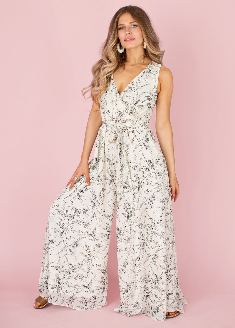 *NEW* Evan Jumpsuit in Gray Floral