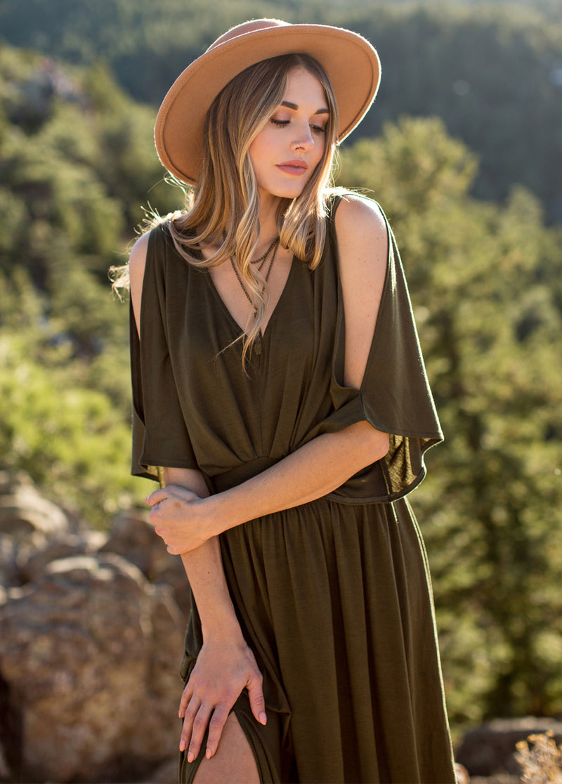 Everleigh Dress in Olive