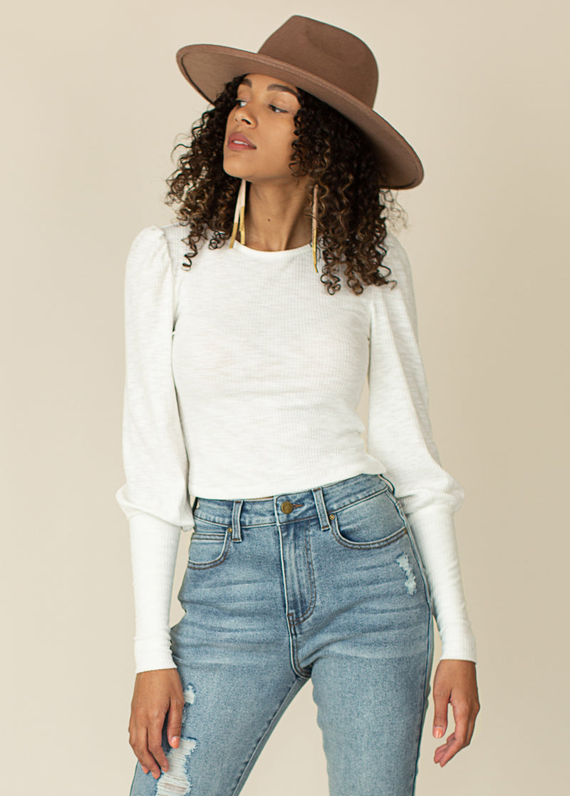 Eve Top in Warm White
