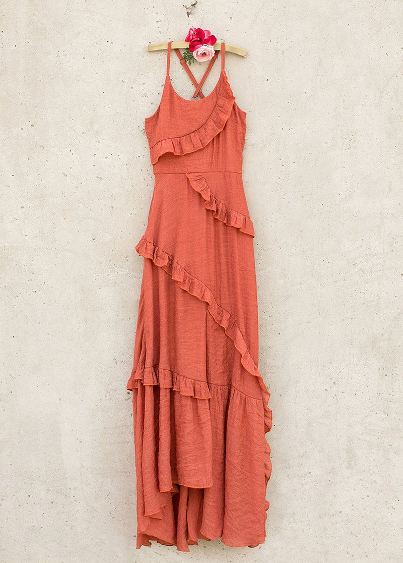 *NEW* Fae Midi Dress in Clay