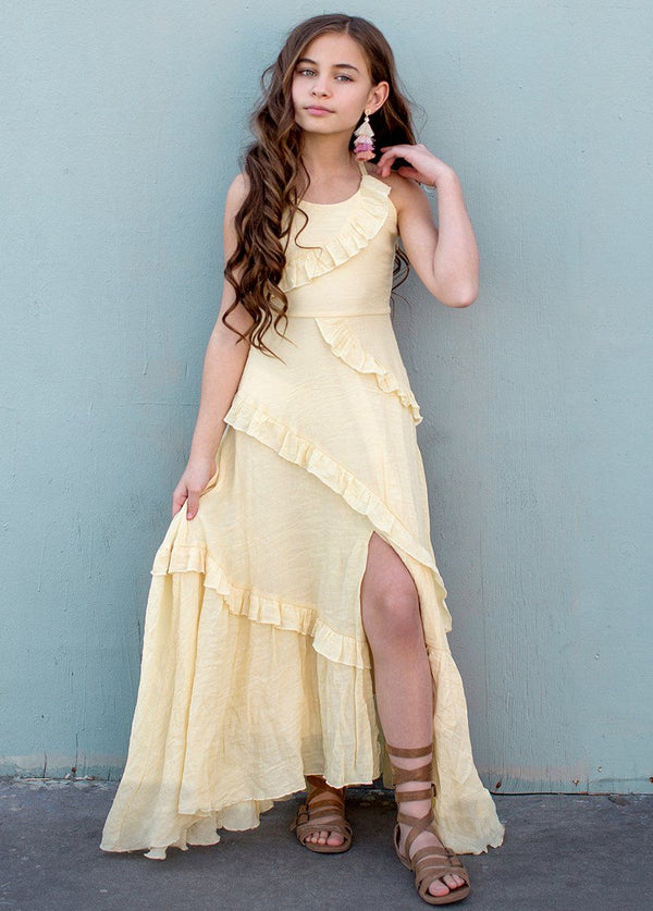 *NEW* Fae Midi Dress in Banana Crepe
