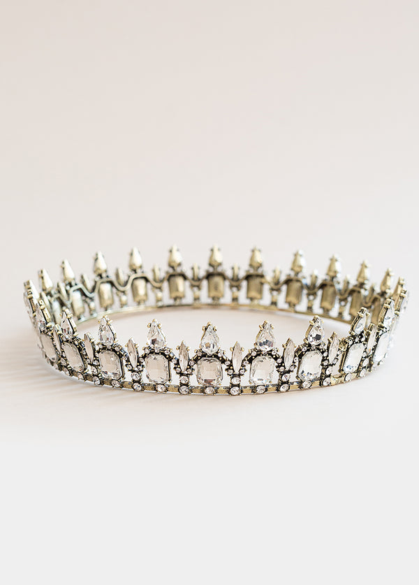 Fantasia Crown in Antique Brass