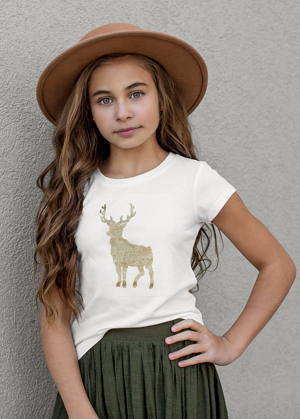 Fawn Graphic Tee in Cream
