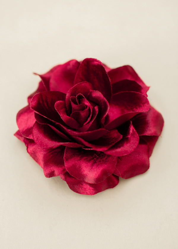Liani Flower Brooch in Red