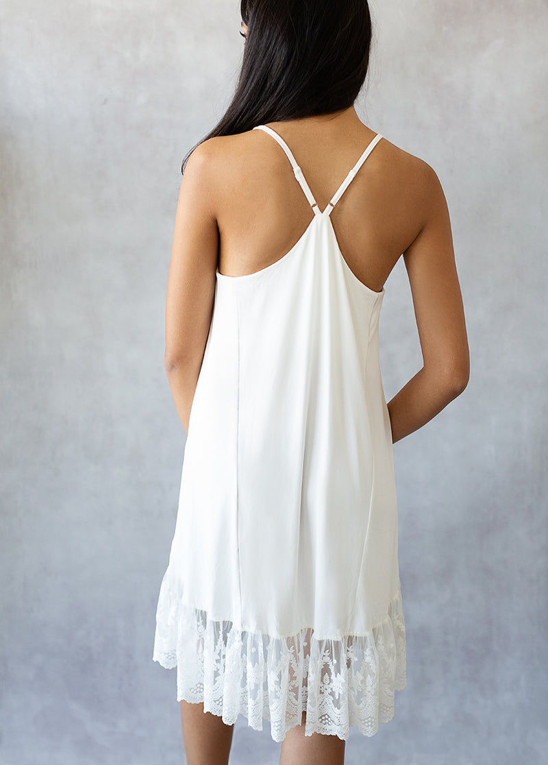 Gabrielle Slip Dress in Cream