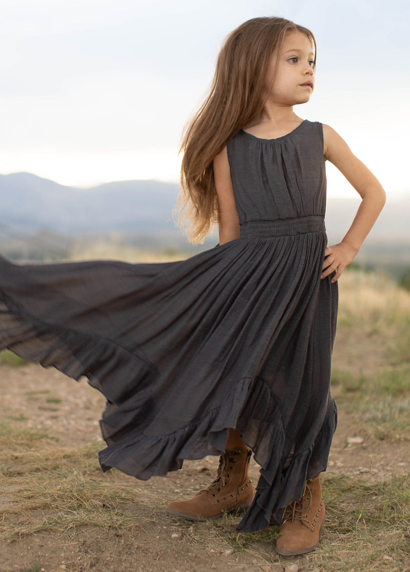 *SOLD OUT* Gemma Maxi Dress in Charcoal
