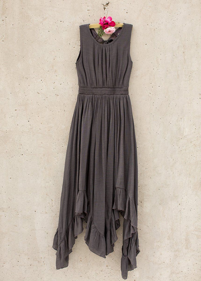 *NEW* Gemma Maxi Dress in Charcoal