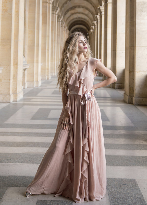*NEW* Genevre Dress in Nude Blush