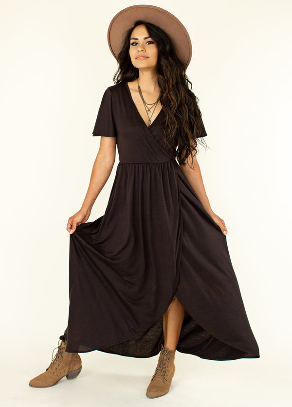 *NEW* Geraldine Dress in Espresso