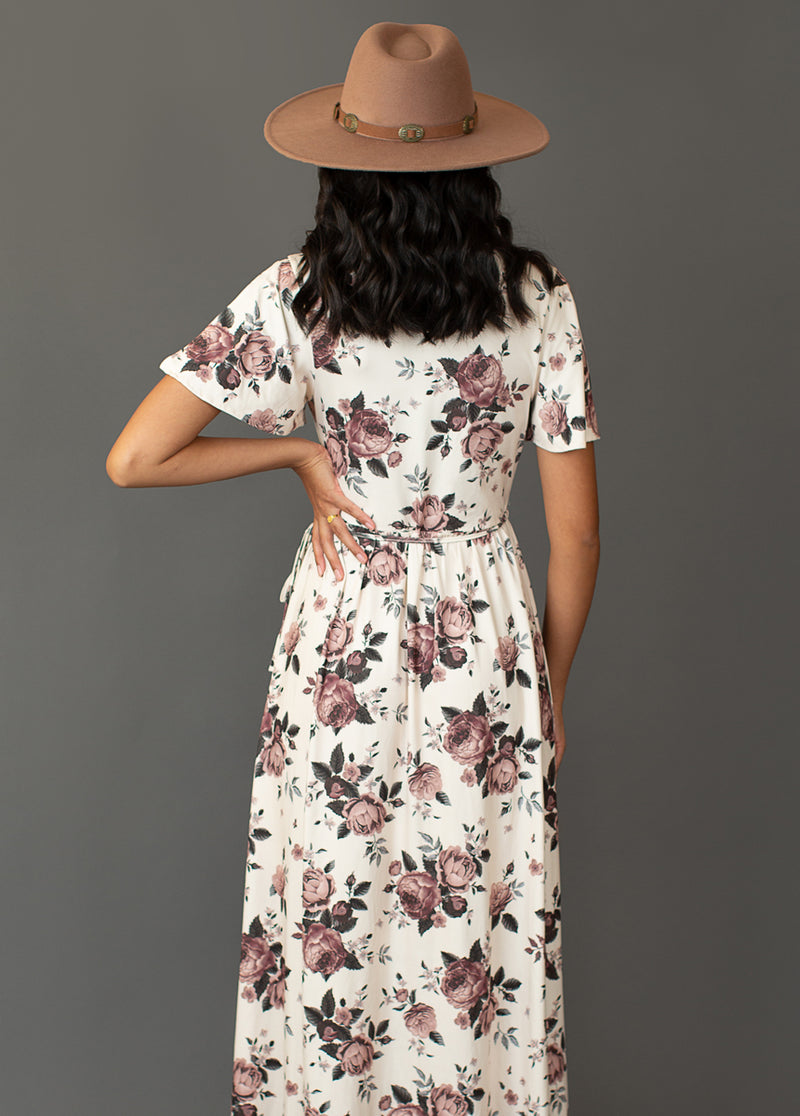Geraldine Dress in Mauve Floral