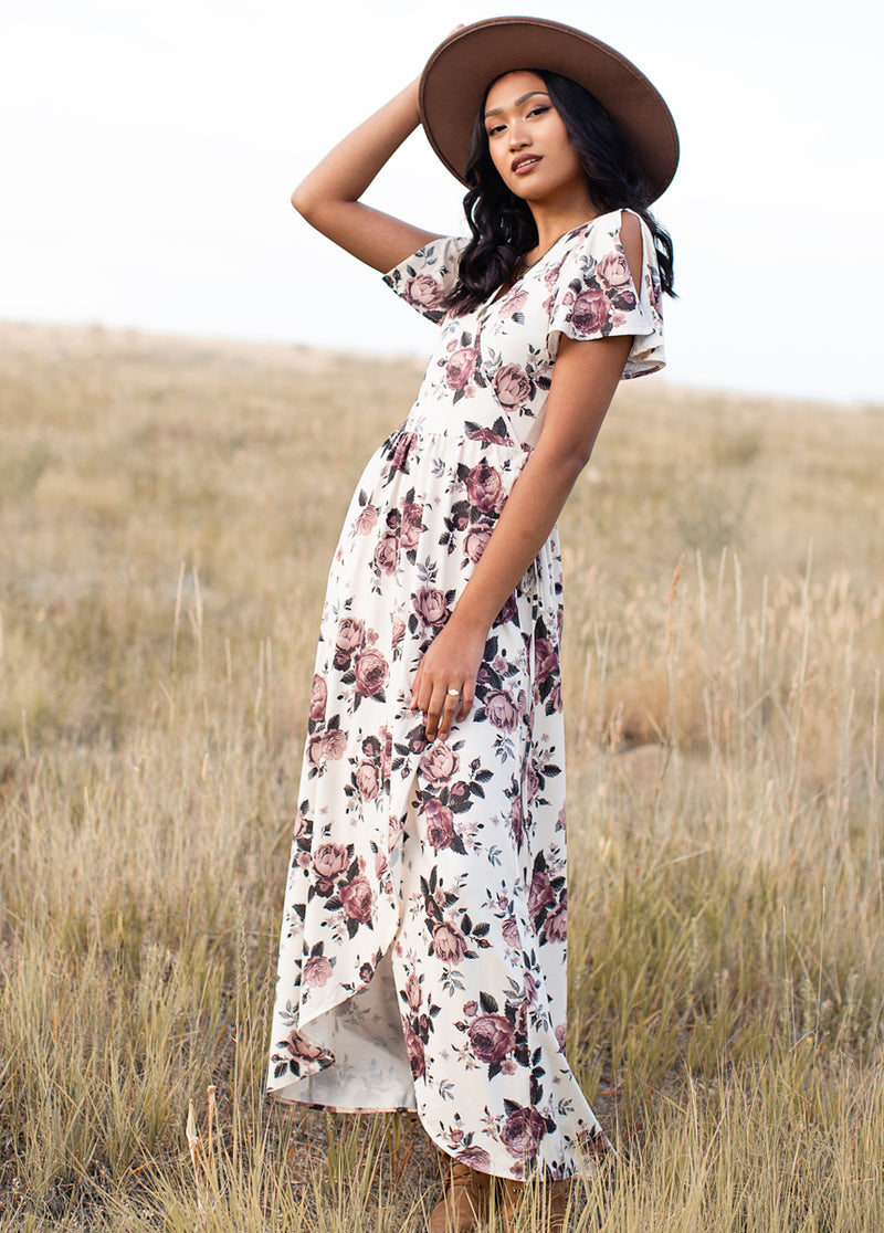 *NEW* Geraldine Dress in Mauve Floral