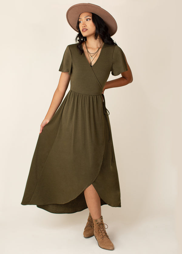 *NEW* Geraldine Dress in Olive