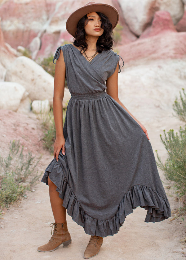 *NEW* Giovanna Dress in Heather Grey