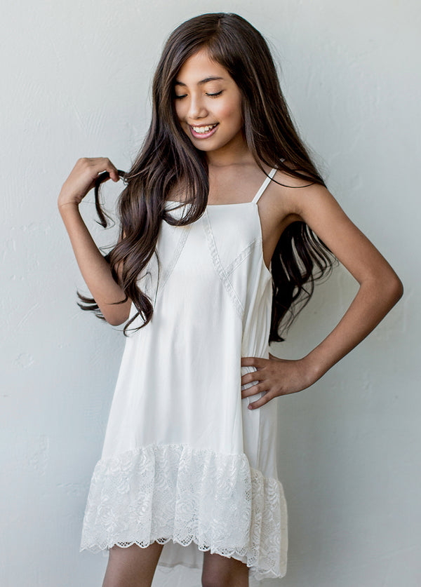 *NEW* Gracelyn Slip Dress in Cream