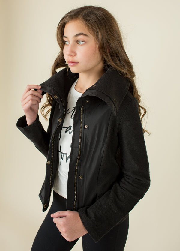 Greer Moto Jacket in Black
