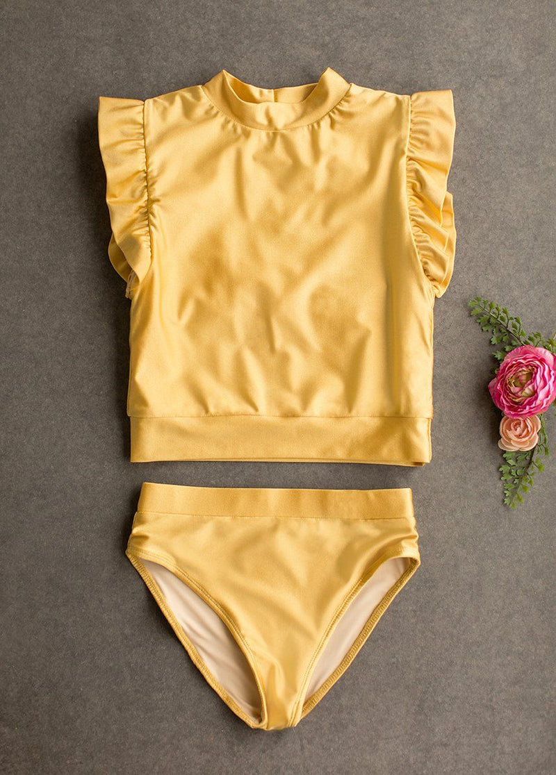 Halley Two-Piece Swimsuit in Citron