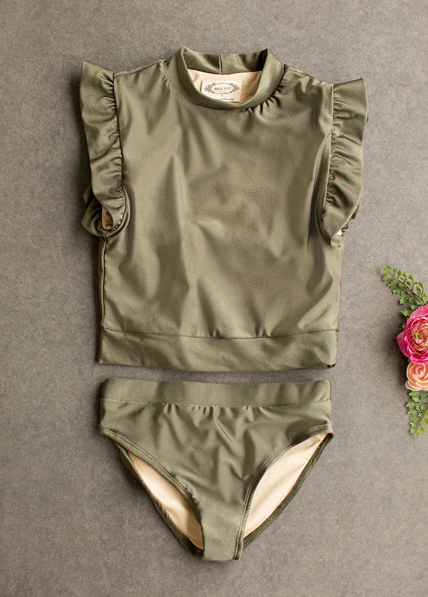 Halley Two-Piece Swimsuit in Olive