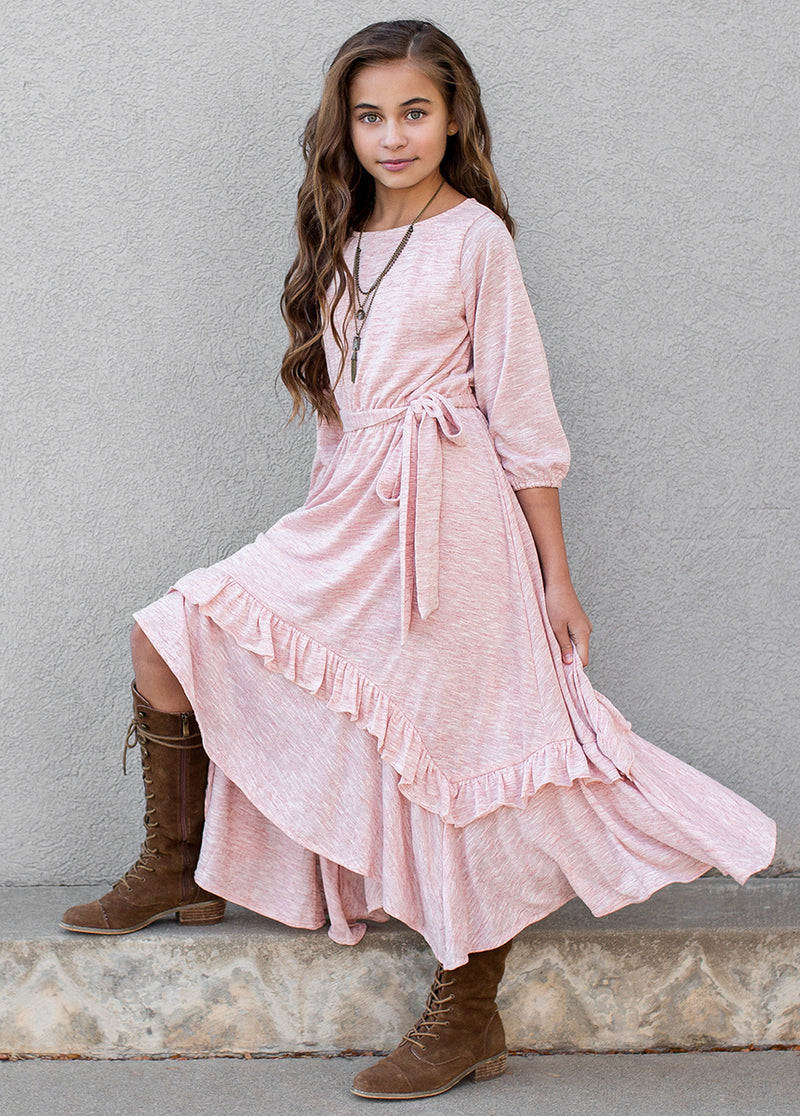 Harlynn Midi Dress in Rose