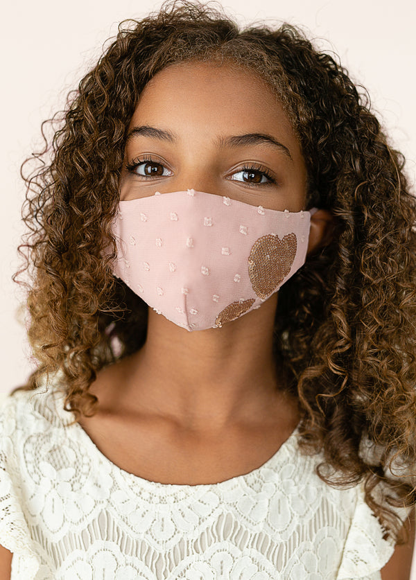 *NEW* Heart Mask in Dusty Pink