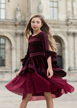 Ida Dress in Plum