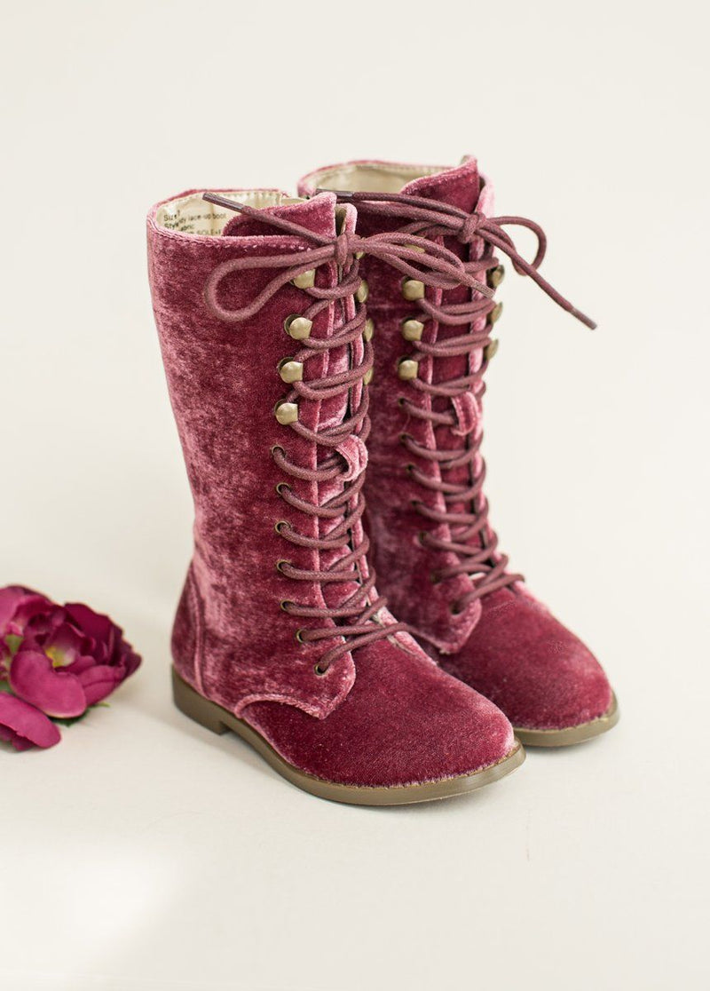 Indy Lace-Up Boot in Spiced Raisin