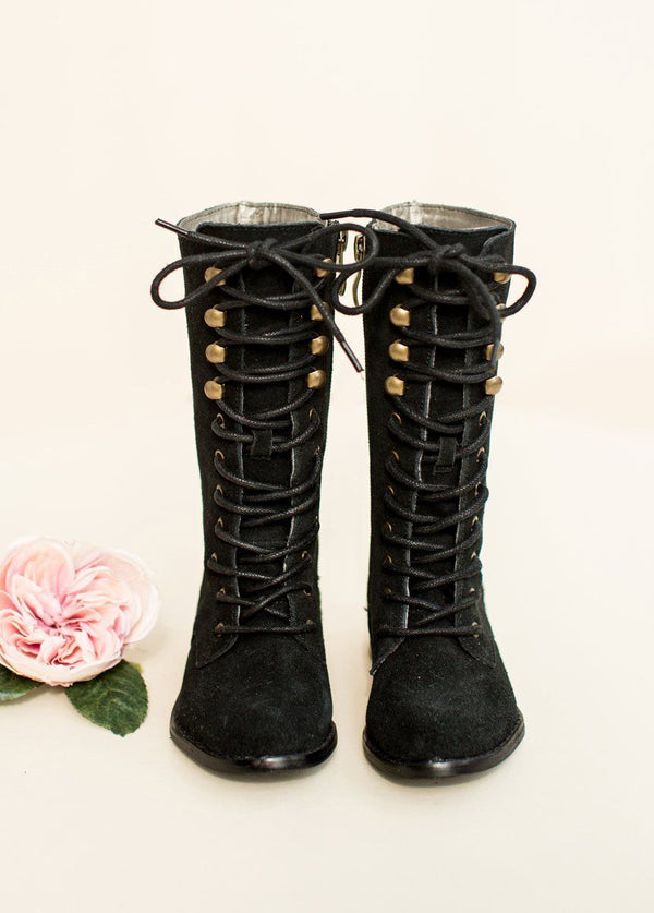 *NEW* Indy Lace-Up Leather Boot in Black