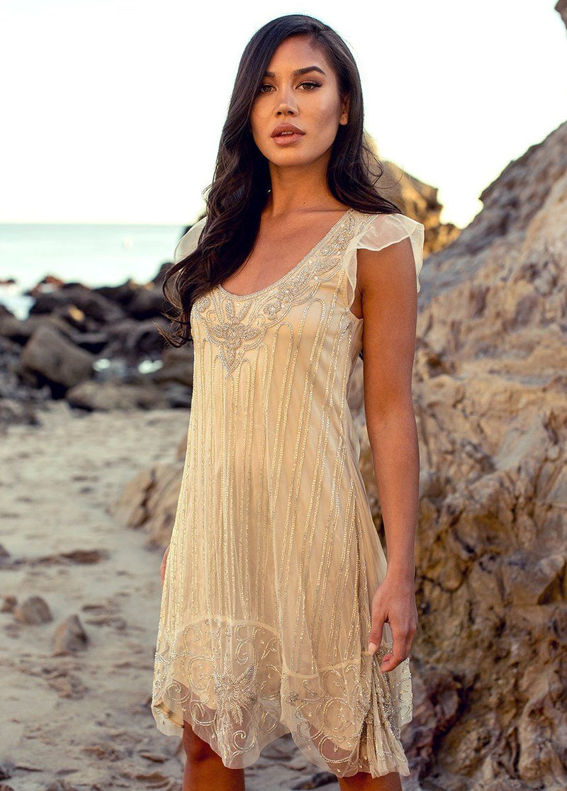 *NEW* Jaci Dress in Champagne
