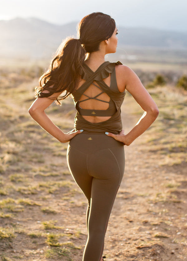 Locklyn Leggings in Army Green
