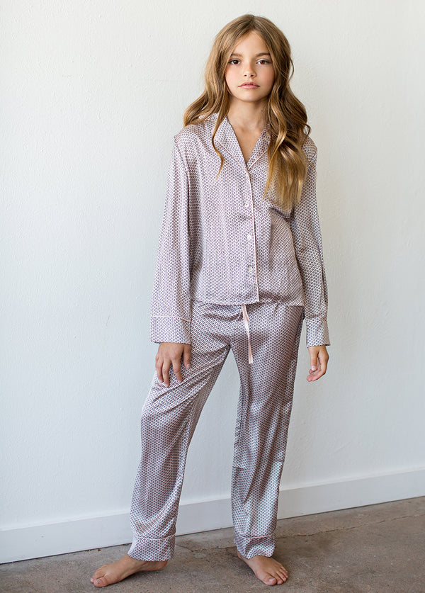 Jasmine Pajamas in Blush Geo