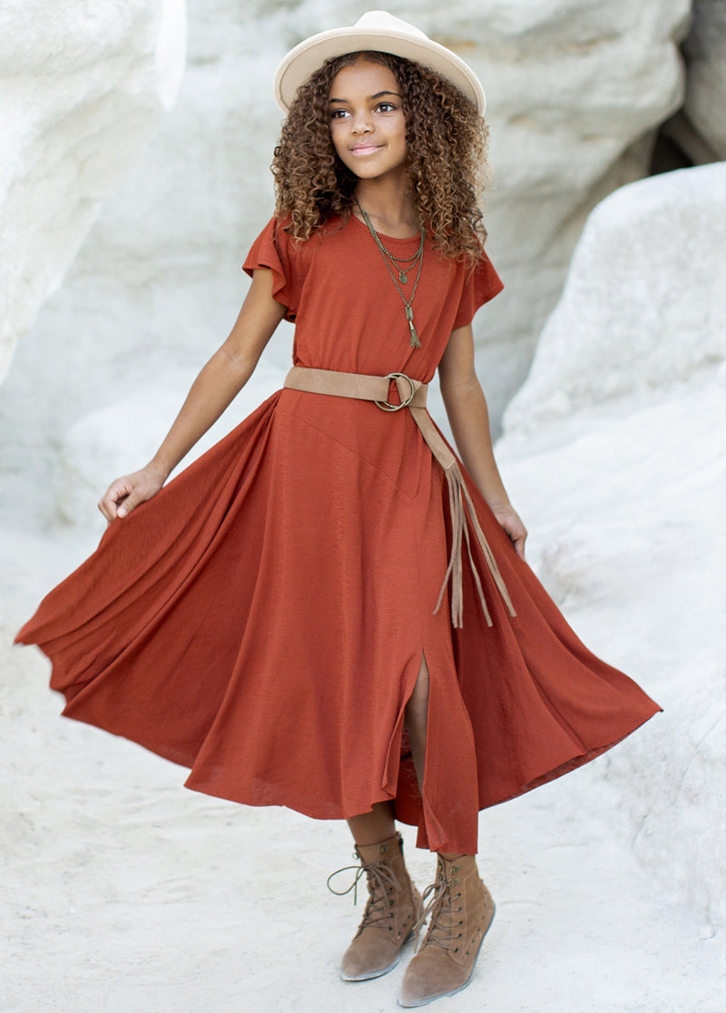 *NEW* Jeselle Dress in Cinnamon