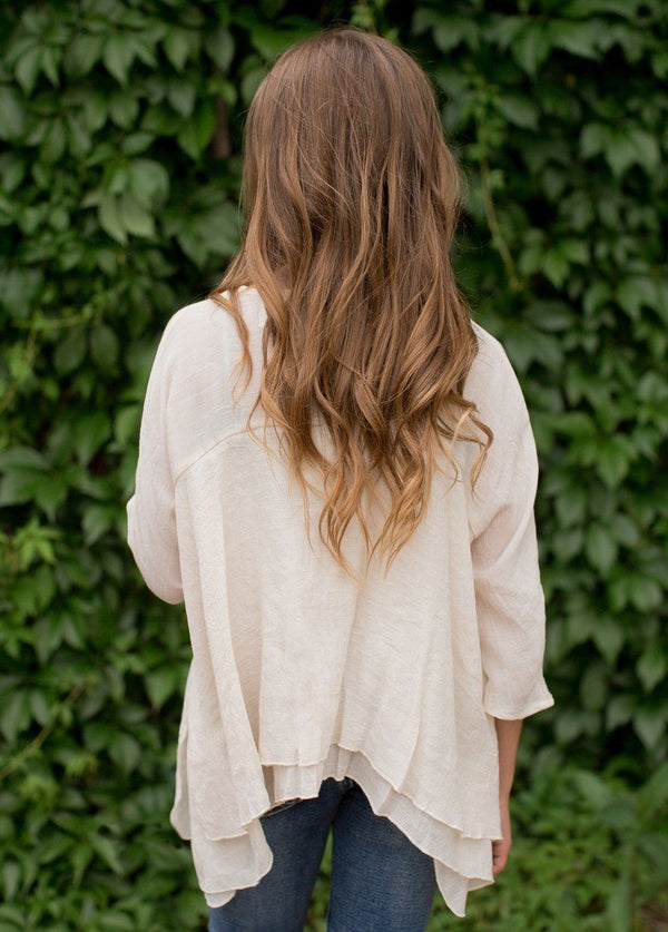 *NEW* Joelle Top in Oatmeal