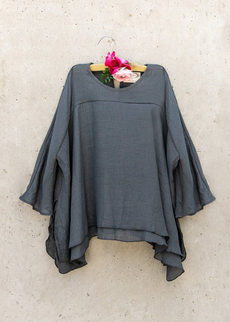 Joelle Top in Charcoal