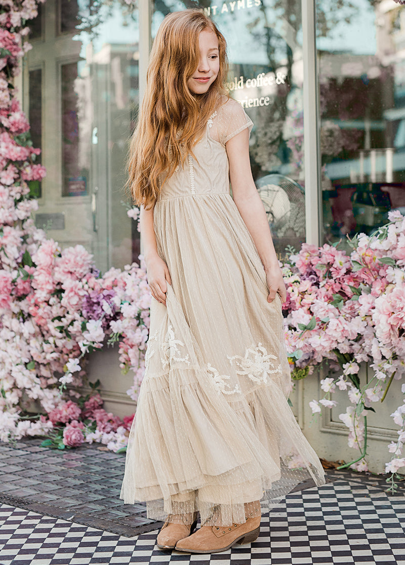 *NEW* Jolie Maxi Dress in Tan