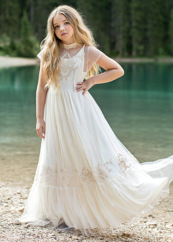 Jolie Maxi Dress in Ivory