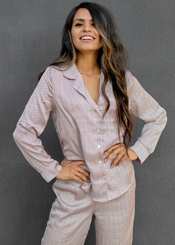 Jordan Pajamas in Blush Geo