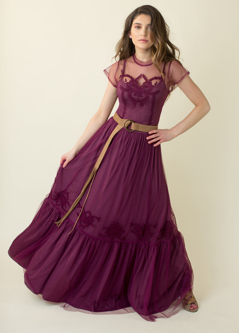 Josephine Maxi Dress in Plum