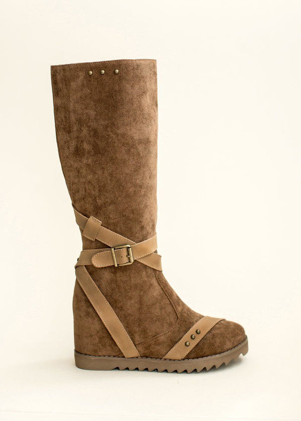 Jules Wedge Boot in Sable