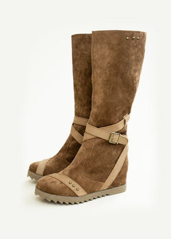Juniper Wedge Boot in Sable