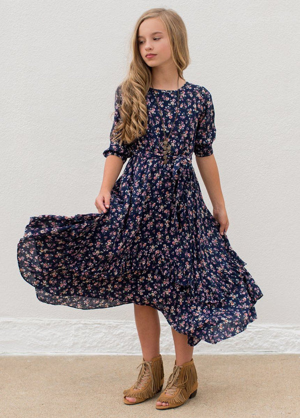 *NEW* Karalee Midi Dress in Navy Floral