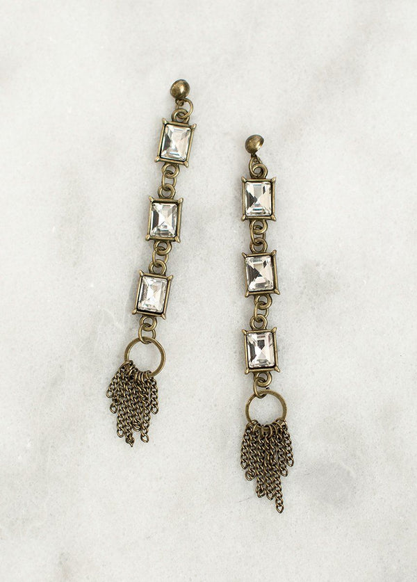 Katrina Earrings in Crystal