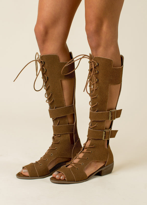 *NEW* Keilani Gladiator Boot in Brown