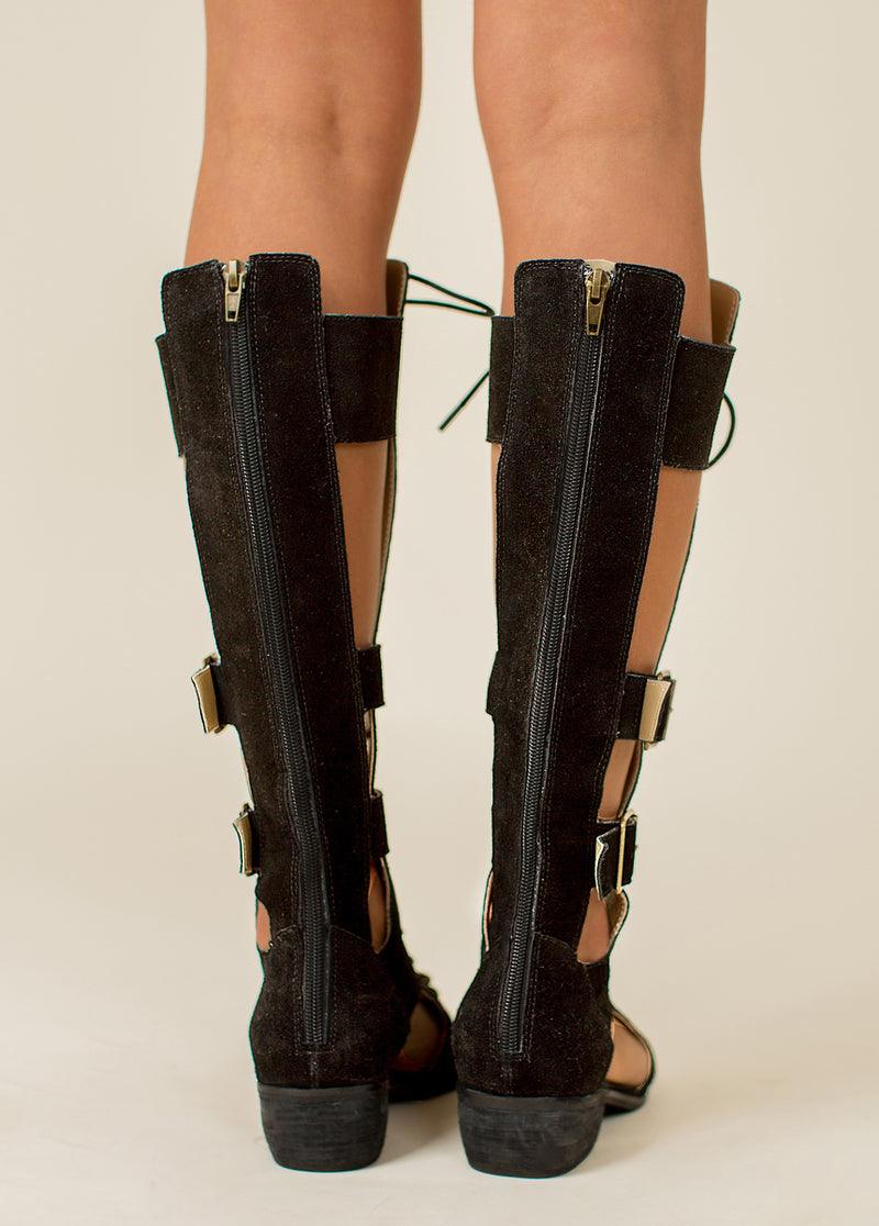 *NEW* Keilani Gladiator Boot in Black