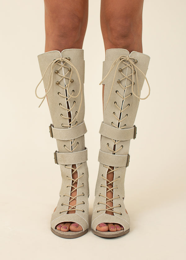 *NEW* Keilani Gladiator Boot in Taupe