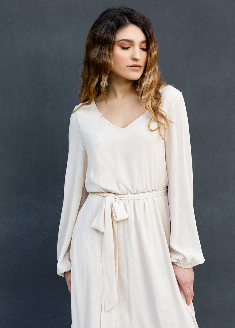 Helaine Dress in Shell