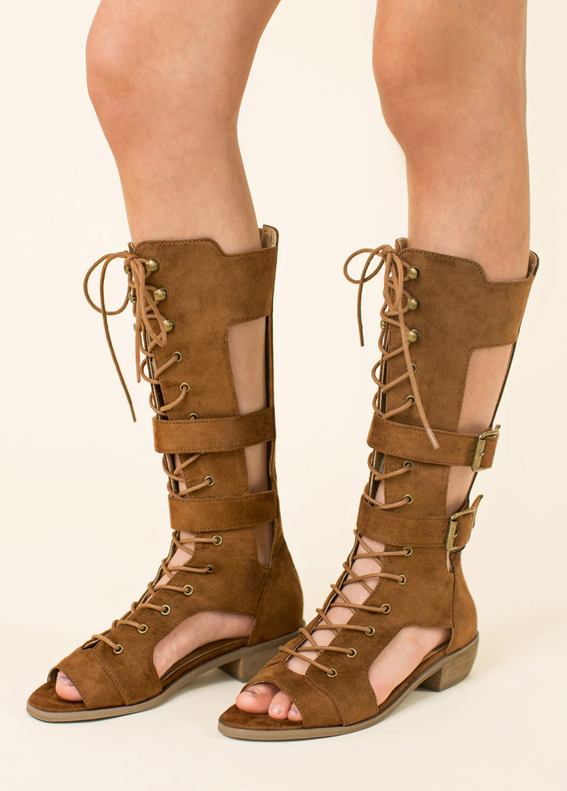 *NEW* Kiki Gladiator Boot in Brown