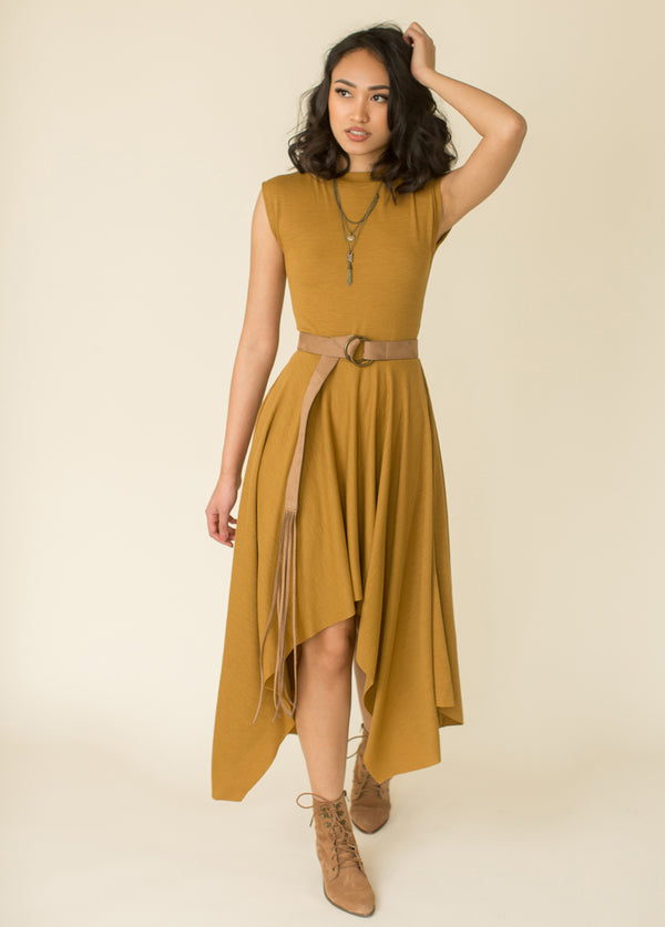 Kimber Dress in Mustard