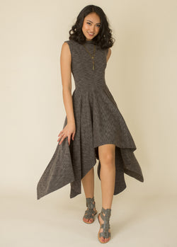 Kimber Dress in Charcoal