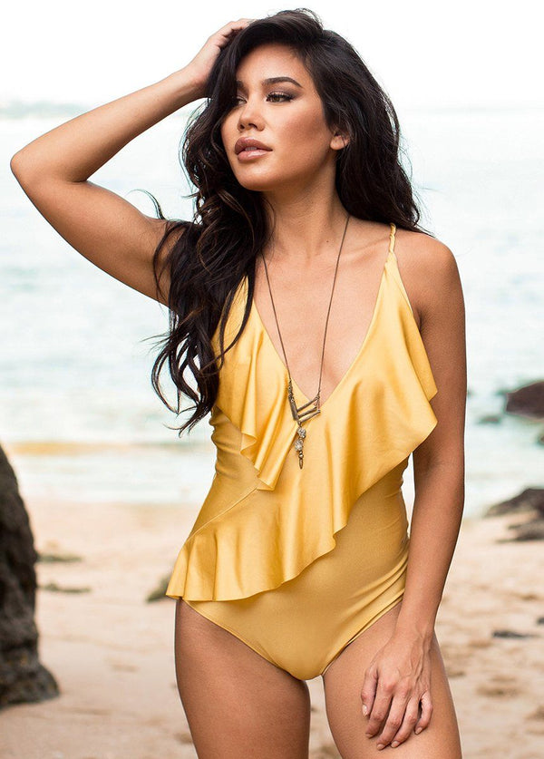 Kona Swimsuit in Citron