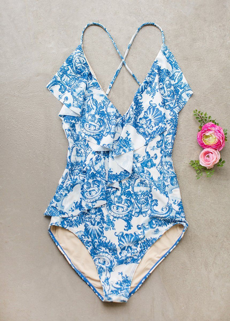 Kona Swimsuit in Porcelain Tile