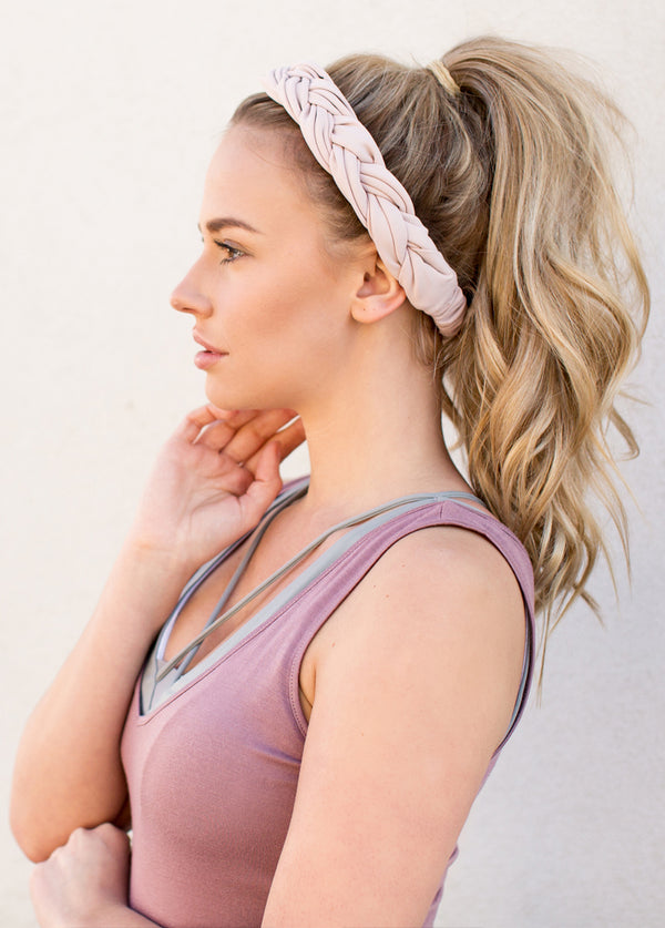 Leilani Headband in Lilac Blush